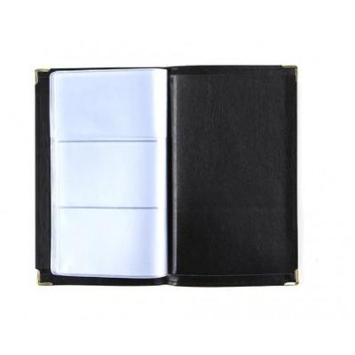 Portatarjetas becerro small para 120 tarjetas