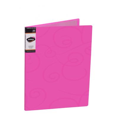 Carpeta A4 con 10 folios de tapa dura Ribbon Rideo