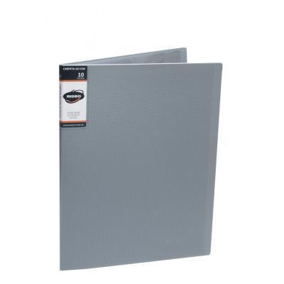 Carpeta A4 con 10 folios de tapa dura Treck Rideo