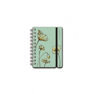 Cuaderno Studio A6 rayado amapola menta Vacavaliente