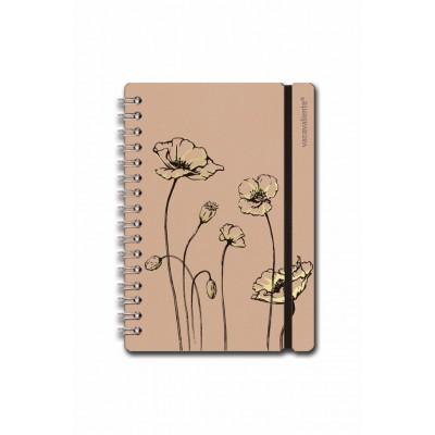 Cuaderno Studio A5 rayado amapola rosa Vacavaliente