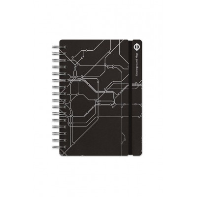 Cuaderno Studio A5 rayado London maps Vacavaliente