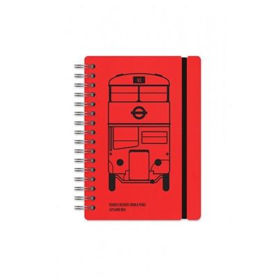 Cuaderno Studio A5 rayado London Bus Vacavaliente