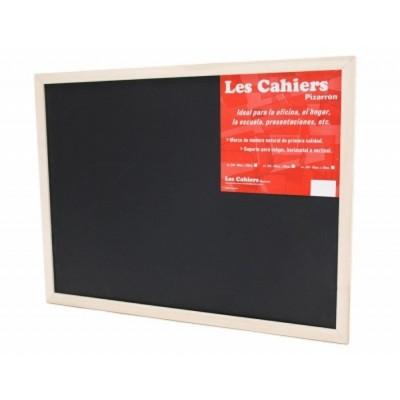 Pizarron 60x90 cm Negro marco madera Les Cahiers