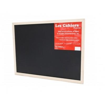 Pizarron 45x60 cm Negro marco madera Les Cahiers