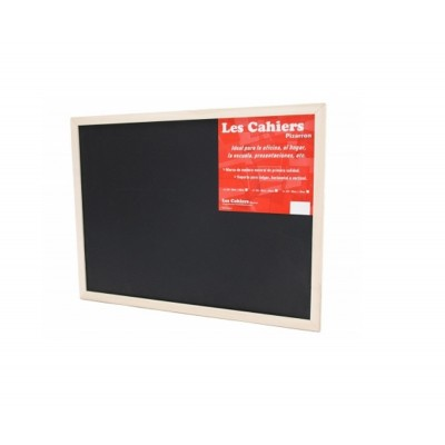 Pizarron NEGRO 30x45 cm marco madera Les Cahiers