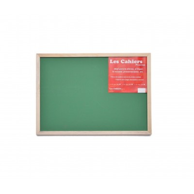 Pizarron VERDE 30x45 cm marco madera Les Cahiers