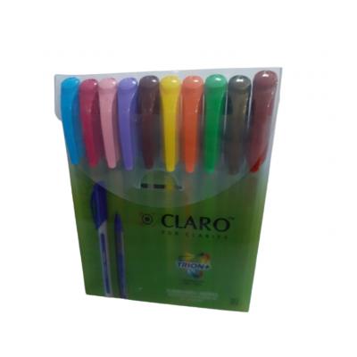 Bolígrafo Trion+ 1 mm x10 colores en estuche Claro
