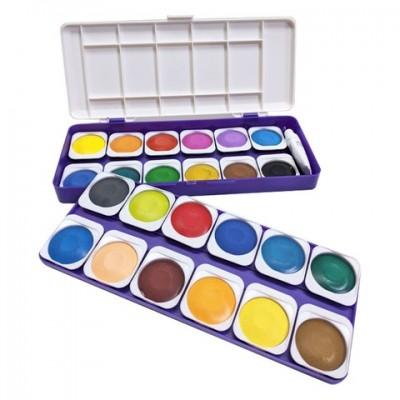Set de acuarelas x 24 colores en pastillas removibles de 30mm REBHAN