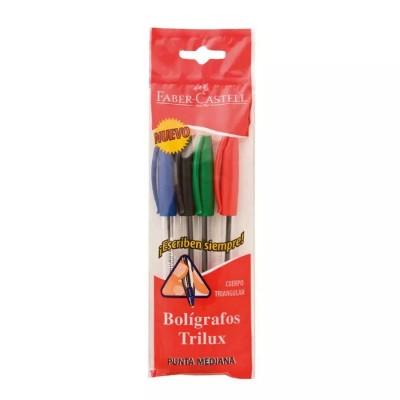 Set de 4 bolígrafos Trilux...