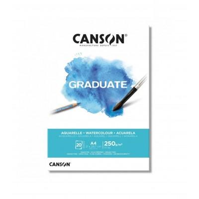 Block Acuarelle Graduate A4 de 250 gramos x20 hojas Canson