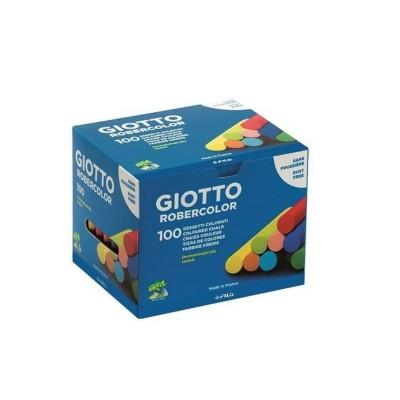 Tiza de colores surtidos ROBERTOCOLOR caja x100 unidades Giotto