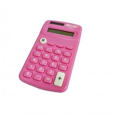 Calculadora bolsillo LAMA 8 digitos rosa Ecal