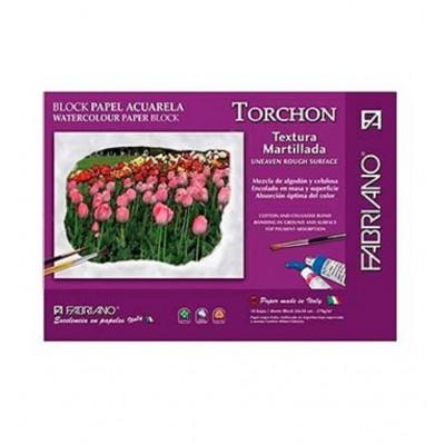 Block Acuarela 24x35 cm Torchon de 270 gramos x10 hojas Fabriano