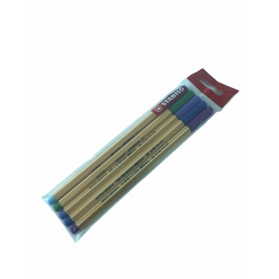 Set de Microfibras Point 88 x 5 Colores Fríos Stabilo
