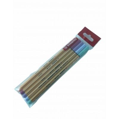 Set de Microfibras Point 88 x 5 Colores Pastel Stabilo