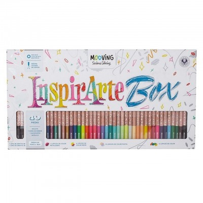 Lapices de colores InspirArte Box Coloring x40 piezas Mooving