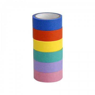Cinta adhesiva decorativa de 1,5cm x5 metros COLORES LISOS Washi Tape x unidad Talbot