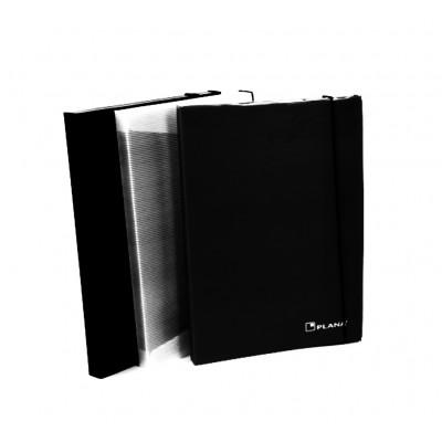 Carpeta 3 solapas con elastico negro Plana