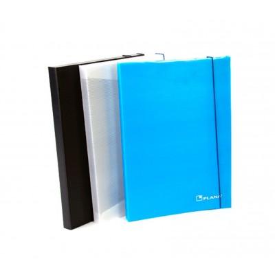 Carpeta 3 solapas con elastico azul Plana