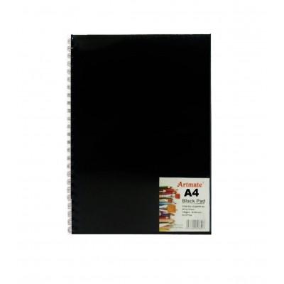Block Espiralado A4 hojas Negras de 140 gramos x30 hojas Artmate