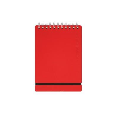 Anotador Cuero reciclado A6 liso rojo VACAVALIENTE