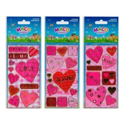 Plancha Stickers Love Maco