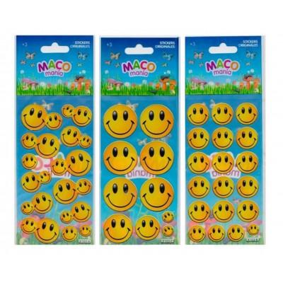 Plancha Stickers Emoji Maco