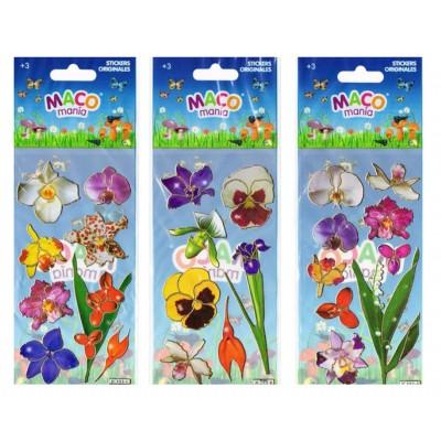 Plancha Stickers Flores Maco