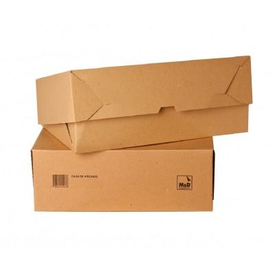 Caja de archivo Oficio 12 cm de cartón M&D