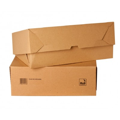 Caja de archivo Legajo 12 cm de cartón M&D