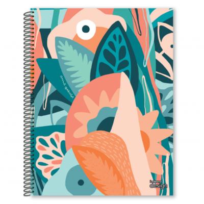 Cuaderno con espiral A4 tapa plastica Design x 84 hojas rayado Ledesma