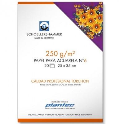 Block para Acuarela 25x35 cm Torchon blanco de 250 gramos x20 Hojas Schoellershammer