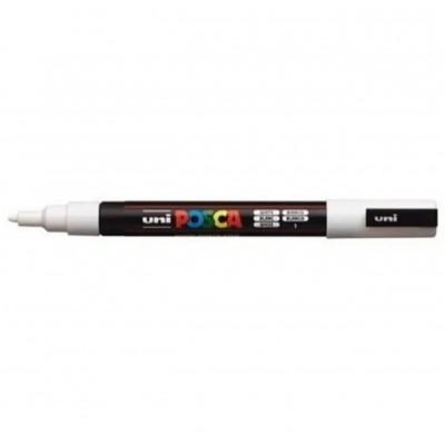 Marcador de Pintura Fino 1.5 mm Blanco Posca PC-3M punta cónica Uni