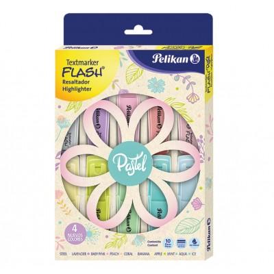 Resaltadores Flash PASTEL x10 colores surtidos Pelikan