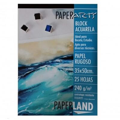 Block Acuarela 35x50 cm Paperarts de 240 Gramos x24 hojas Paperland