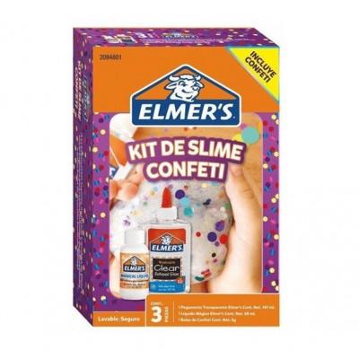Kit de SLIME CONFETTI x3 piezas ELMERS