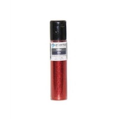 Glitter Rojo tubo x15 gramos Eterna