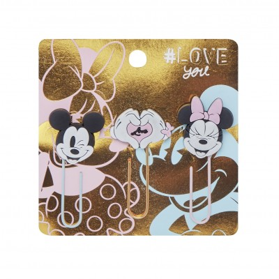 Clips 50 mm con formas Mickey & Minnie x3 unidades Mooving