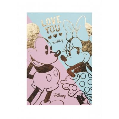 Block de Notas Mickey & Minnie con 8 diseños de hoja y borde dorado Mooving