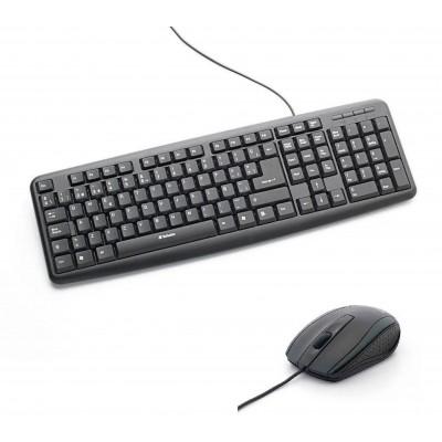 Combo Teclado y Mouse óptico con cable Verbatim