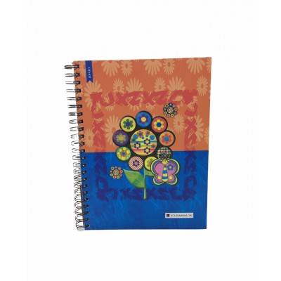 Cuaderno con espiral A4 tapa dura flowers x 150 hojas rayado Cita Kit
