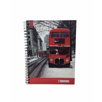 Cuaderno con espiral A4 tapa dura urbano x 150 hojas rayado Cita Kit