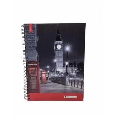 Cuaderno con espiral A4 tapa dura Urbano x 150 hojas cuadriculado Cita Kit