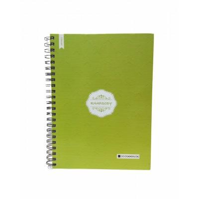 Cuaderno con espiral A4 tapa dura Rhapsody x 150 hojas cuadriculado Cita Kit