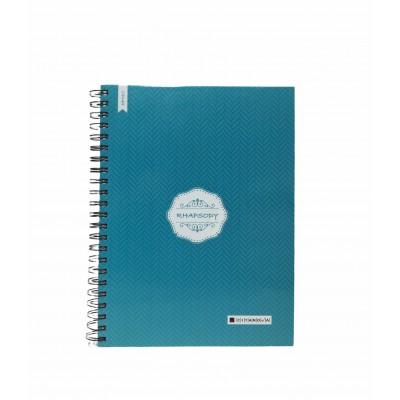 Cuaderno con espiral A4 tapa dura Rhapsody x 150 hojas rayado Cita Kit