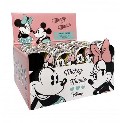 Cinta adhesiva Washi Tape de 1,5cm x5 metros Mickey & Minnie x unidad Mooving