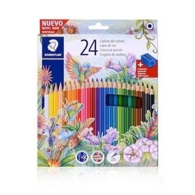 Lápices de Colores x24 unidades caja cartón Staedtler
