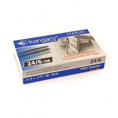 Broche para abrochadora Nº24/6 caja x1000 unidades Kangaro
