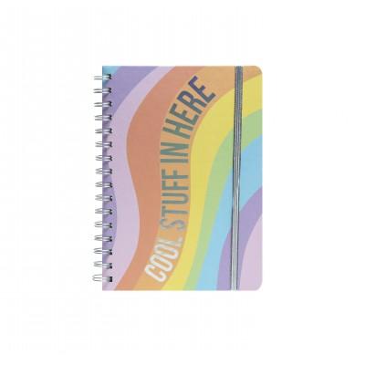 Cuaderno Espiralado A5 Cool Rainbow x80 hojas rayadas Mooving